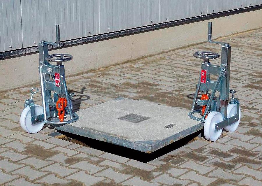 kabelverlegeger te ger te am kabelschacht universal On betondeckel heber
