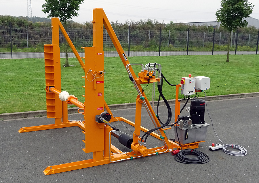 Drum lifting, storing and coiling|Recoiling Unit KUS 100